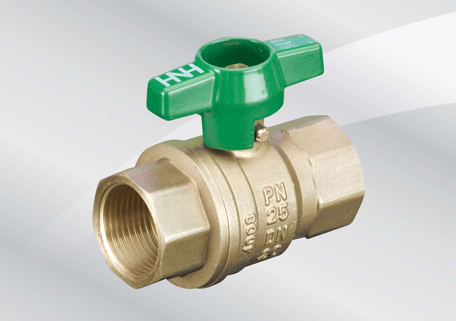 """HATTERSLEY 100 LEVER OPERATED PN25 DN25 BRASS BALL VALVE 25MM 1/"""" 1 INCH  ref-A2"""